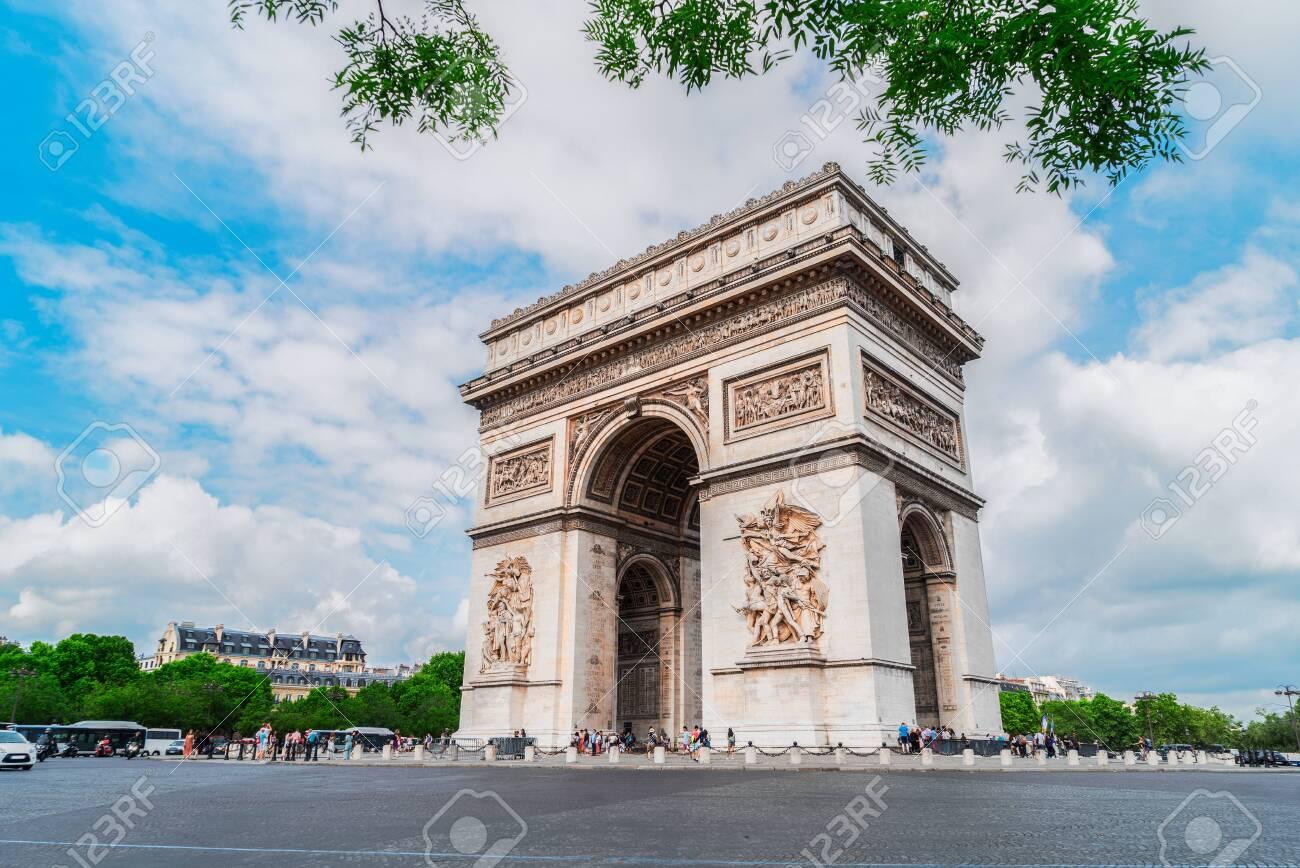 Arc de Triomphe at summer day, Paris, France - 151879216