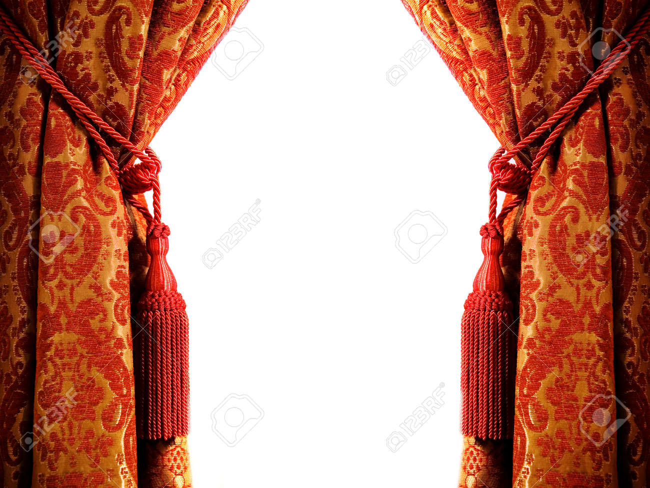 Luxury curtain with a copy-space in the middle Stock Photo - 2222059