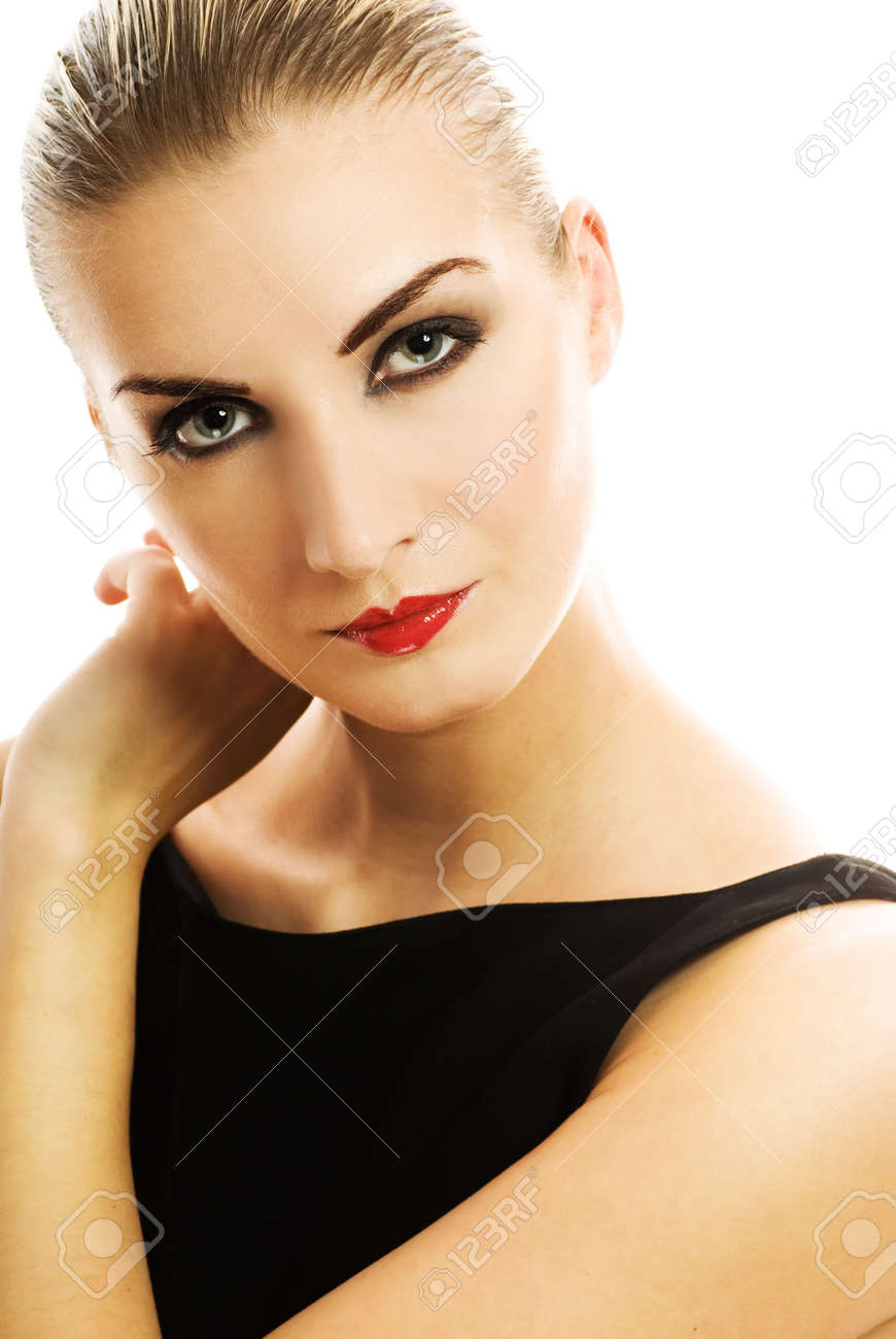 Close-up portrait of a young beautiful woman Stock Photo - 2486596