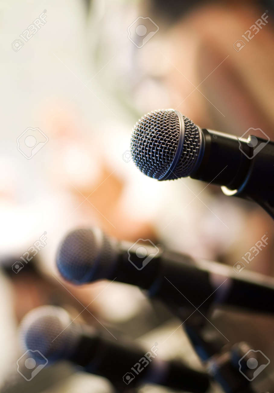 Microphone on abstract blurred background (shallow DoF) - 2630969