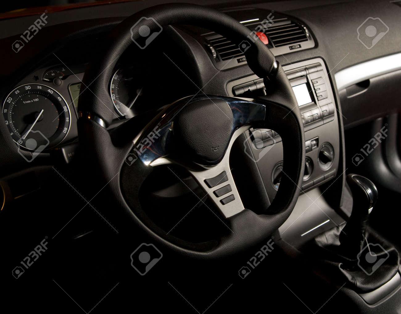 Sport car interior Stock Photo - 3685122