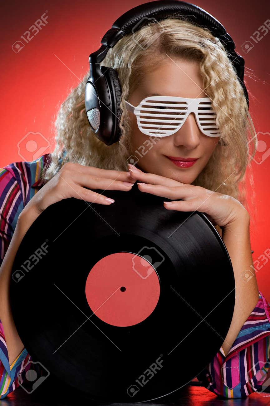 Mujeres con estilo DJ Foto de archivo - 4171362