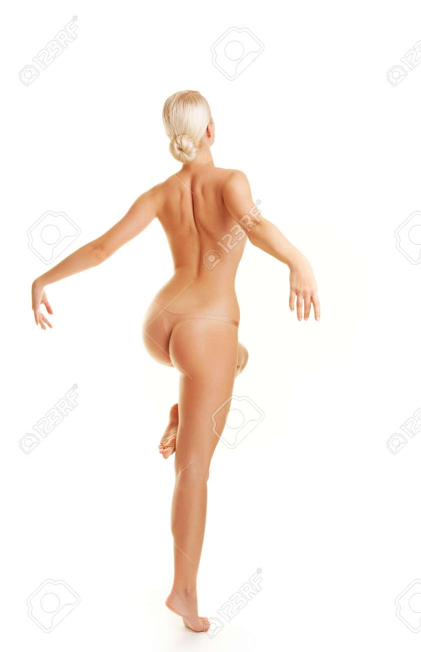 Beautiful young woman dancing naked Stock Photo - 4931460