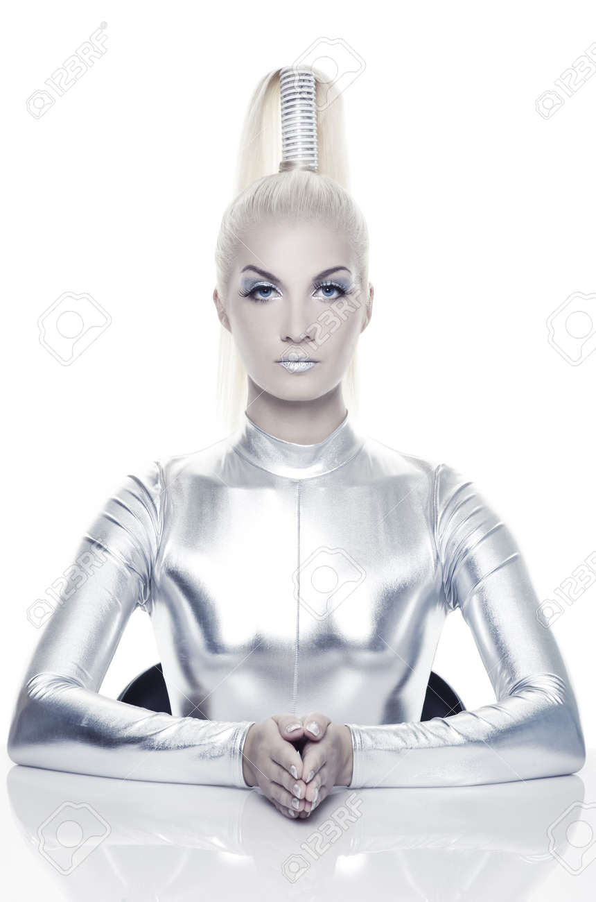 Beautiful cyber woman Stock Photo - 5306159