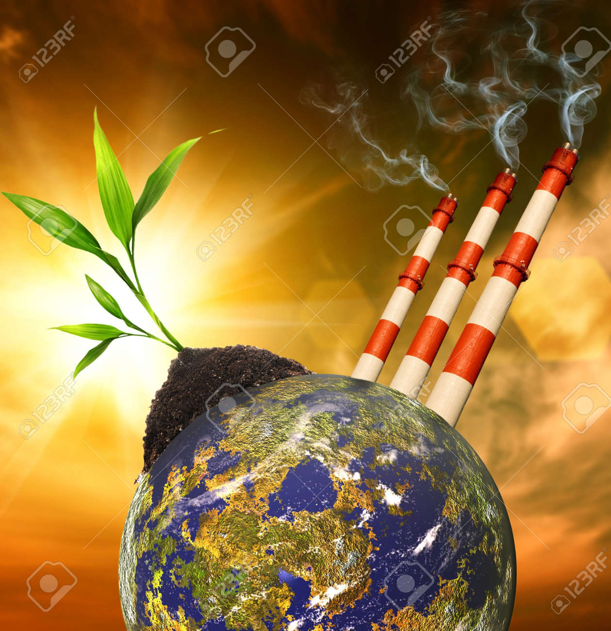 Planet pollution Stock Photo - 6745370