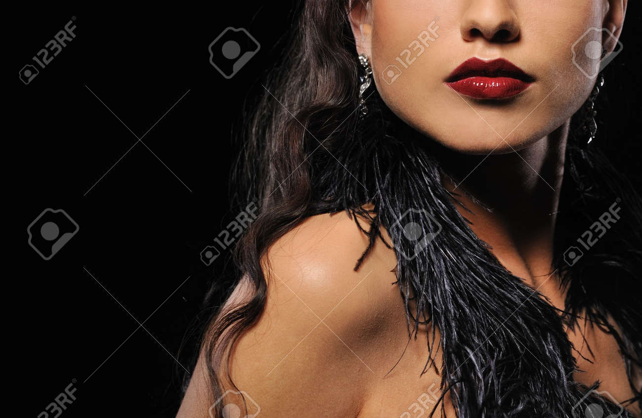 Close-up portrait of a beautiful brunette woman Stock Photo - 6724557