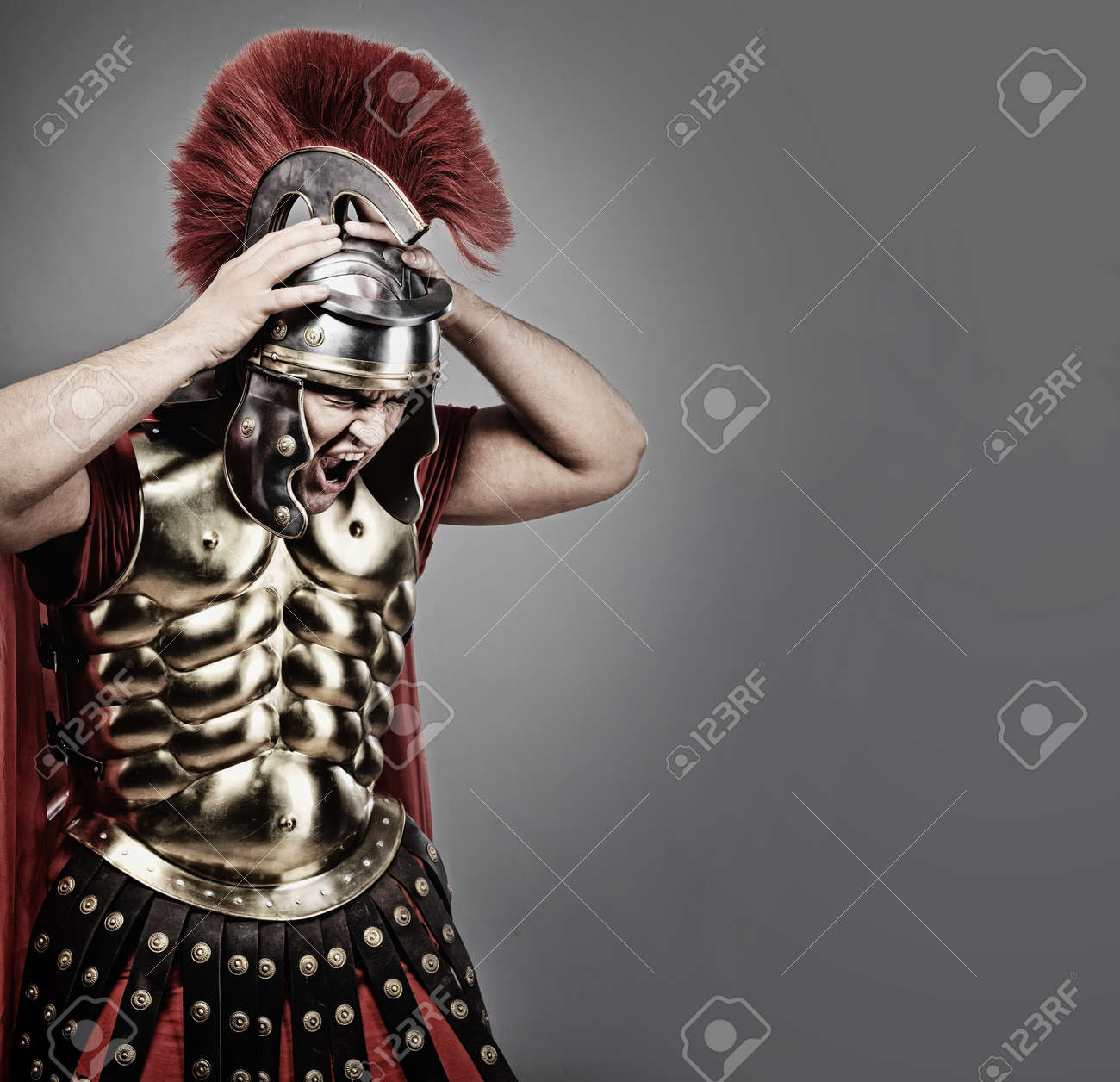Screaming legionary soldier Stock Photo - 7126000