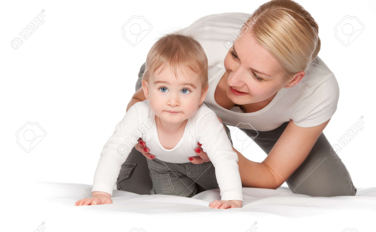 Happy mother with her baby Stock Photo - 9949774