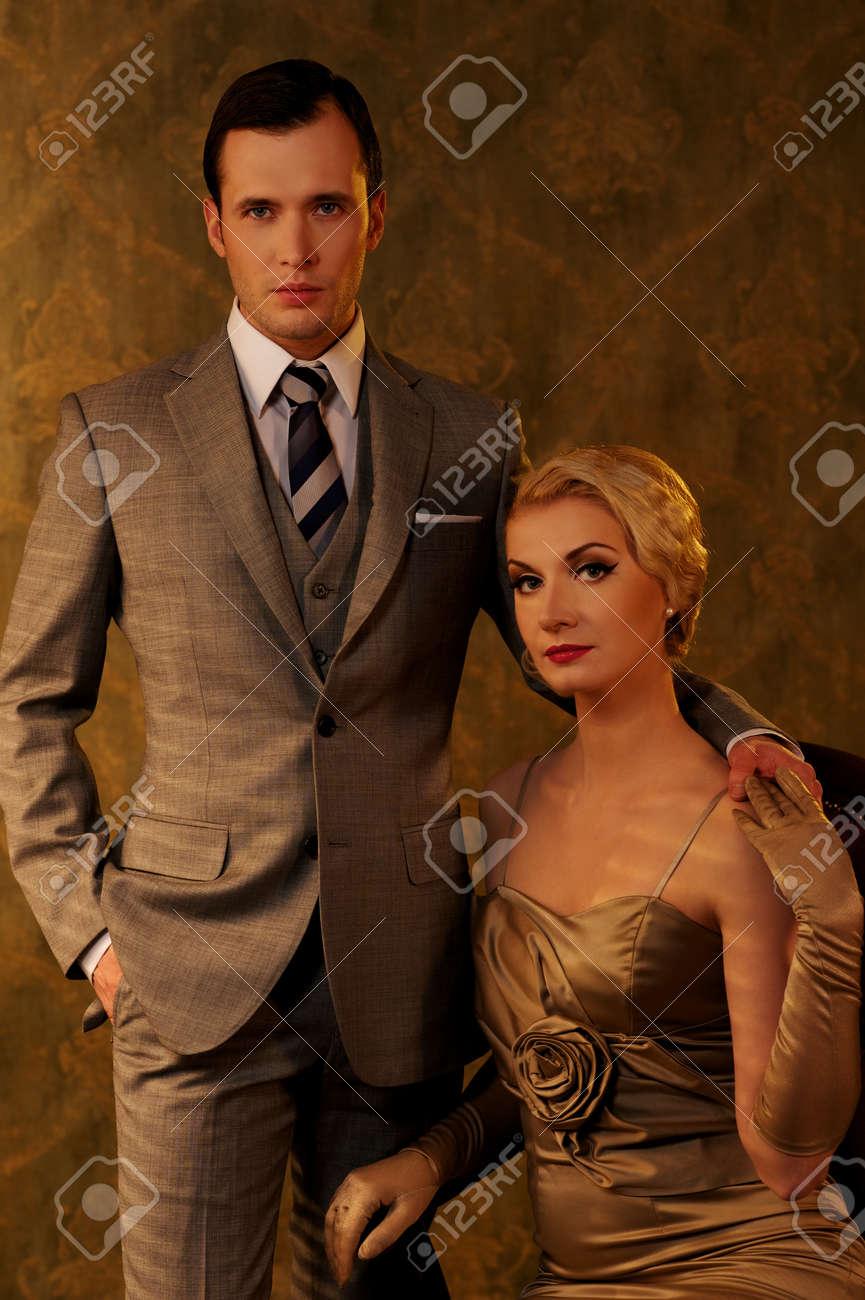 Beautiful retro couple. Stock Photo - 13233340