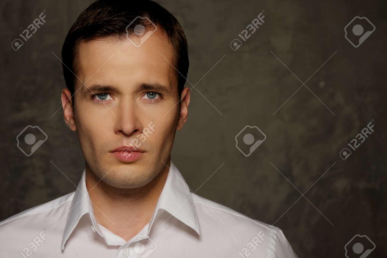 Man in white shirt portrait Stock Photo - 14697080
