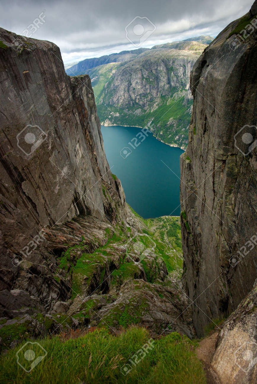 Beautiful fjord view Stock Photo - 15197729