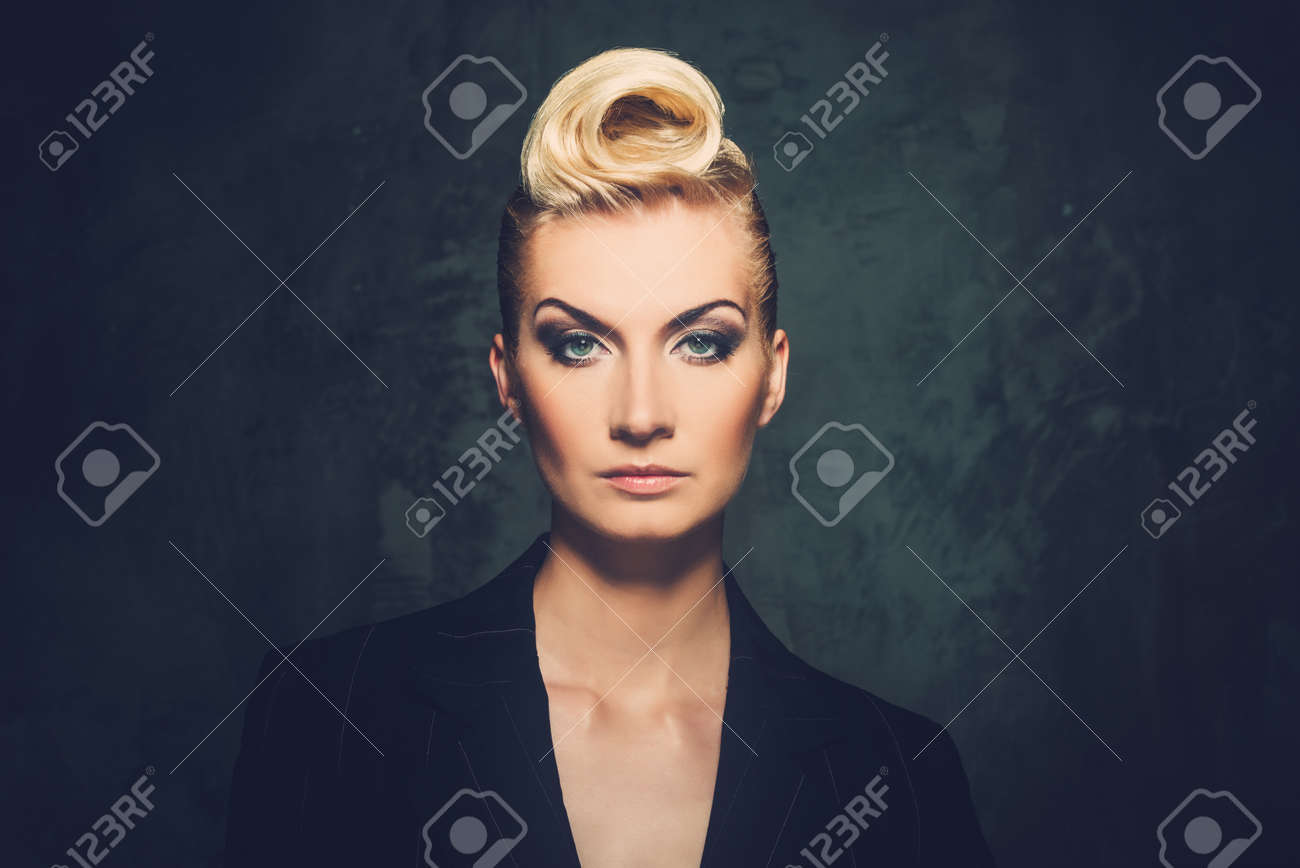 Fashionable woman with creative hairstyle Stock Photo - 15647801