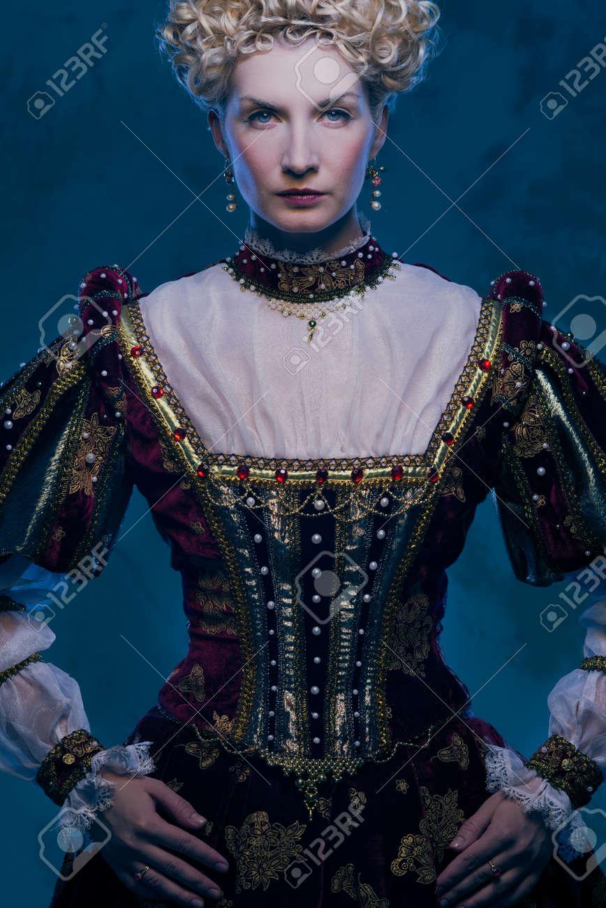 Haughty queen in royal dress Stock Photo - 17507829