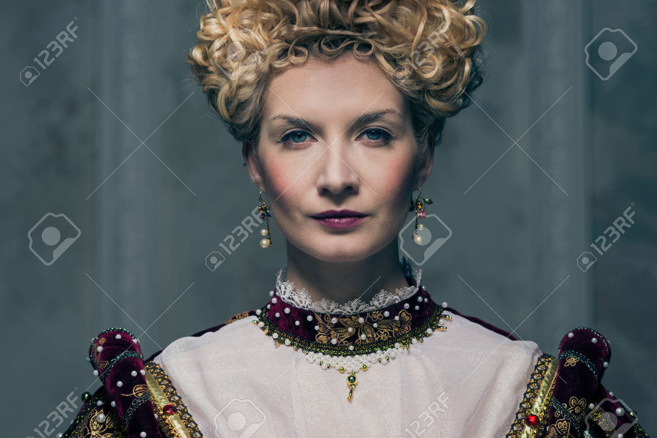 Portrait of beautiful haughty queen Stock Photo - 17846572