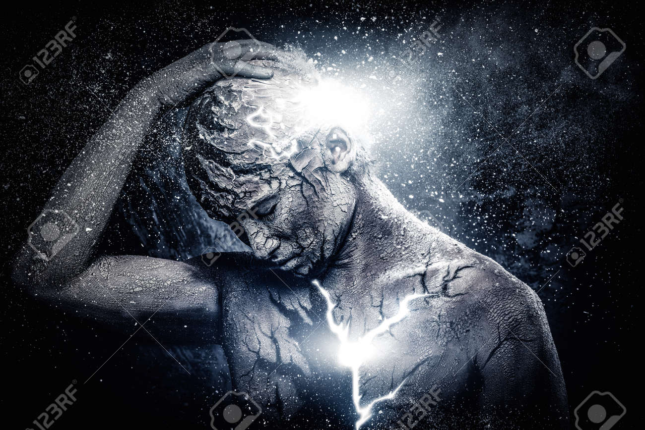 Man With Conceptual Spiritual Body Art Stock Photo Picture And Royalty Free Image Image 37682459