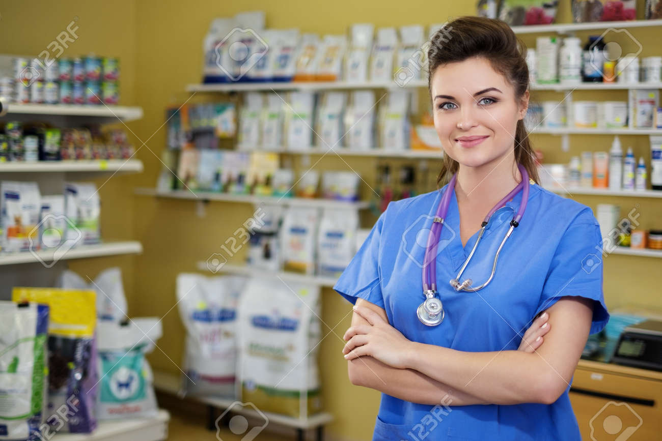 Portrait of a confident veterinarian at clinic. Stock Photo - 52935118