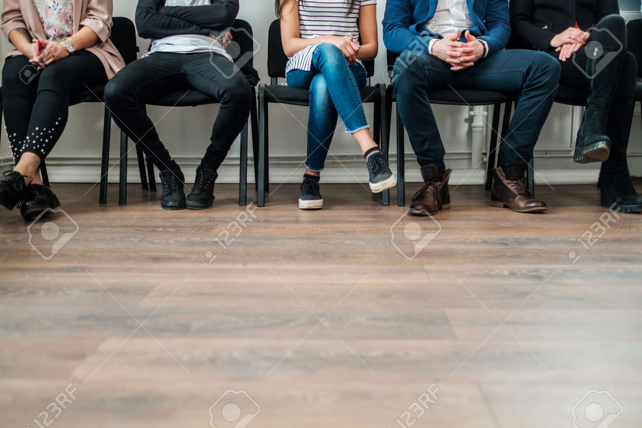Group of a people waiting for a casting or job interview - 123063931