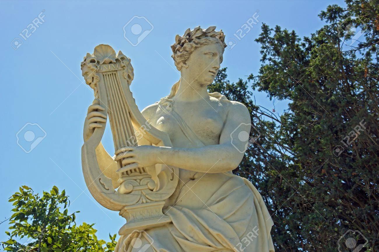 femme jouant de la lyre (JB Tuby 17e) Banque d'images - 11071268