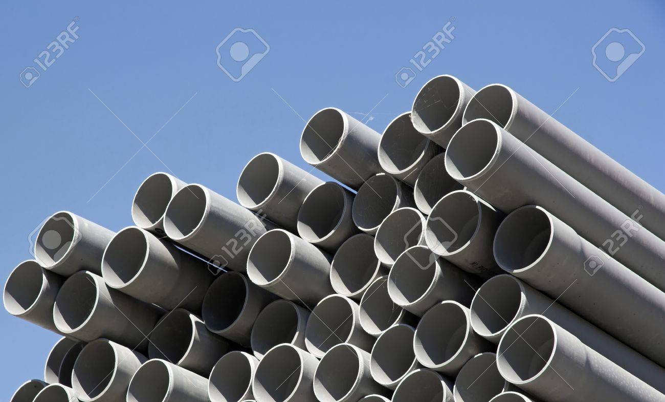 tuyaux en plastique, la zone de stockage Banque d'images - 15656934