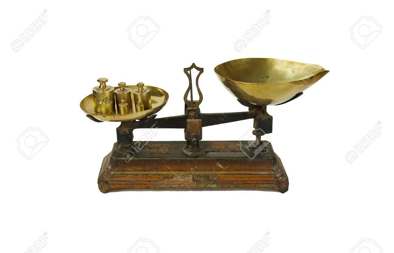 ancien équilibre, l'ampleur et de ses programmes et de poids kilo en français Banque d'images - 16154757