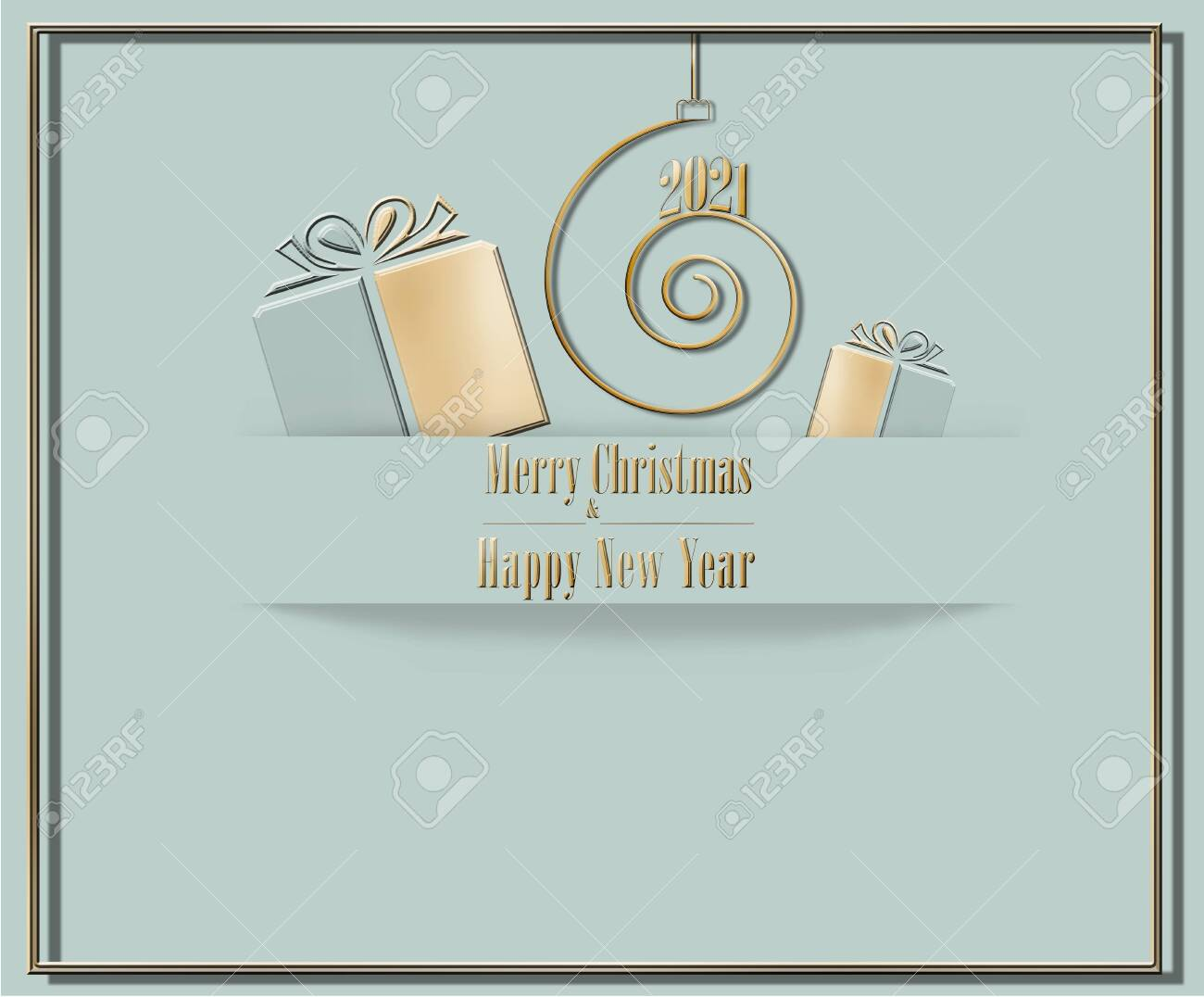 Last Day To Mail Christmas Cards 2021 Elegant Luxury 2021 Merry Christmas Happy New Year Card In Pastel Stock Photo Picture And Royalty Free Image Image 150786197