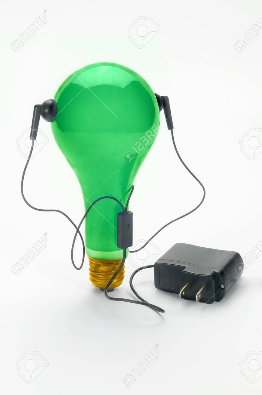 blue bulb and power supply Stock Photo - 10541702