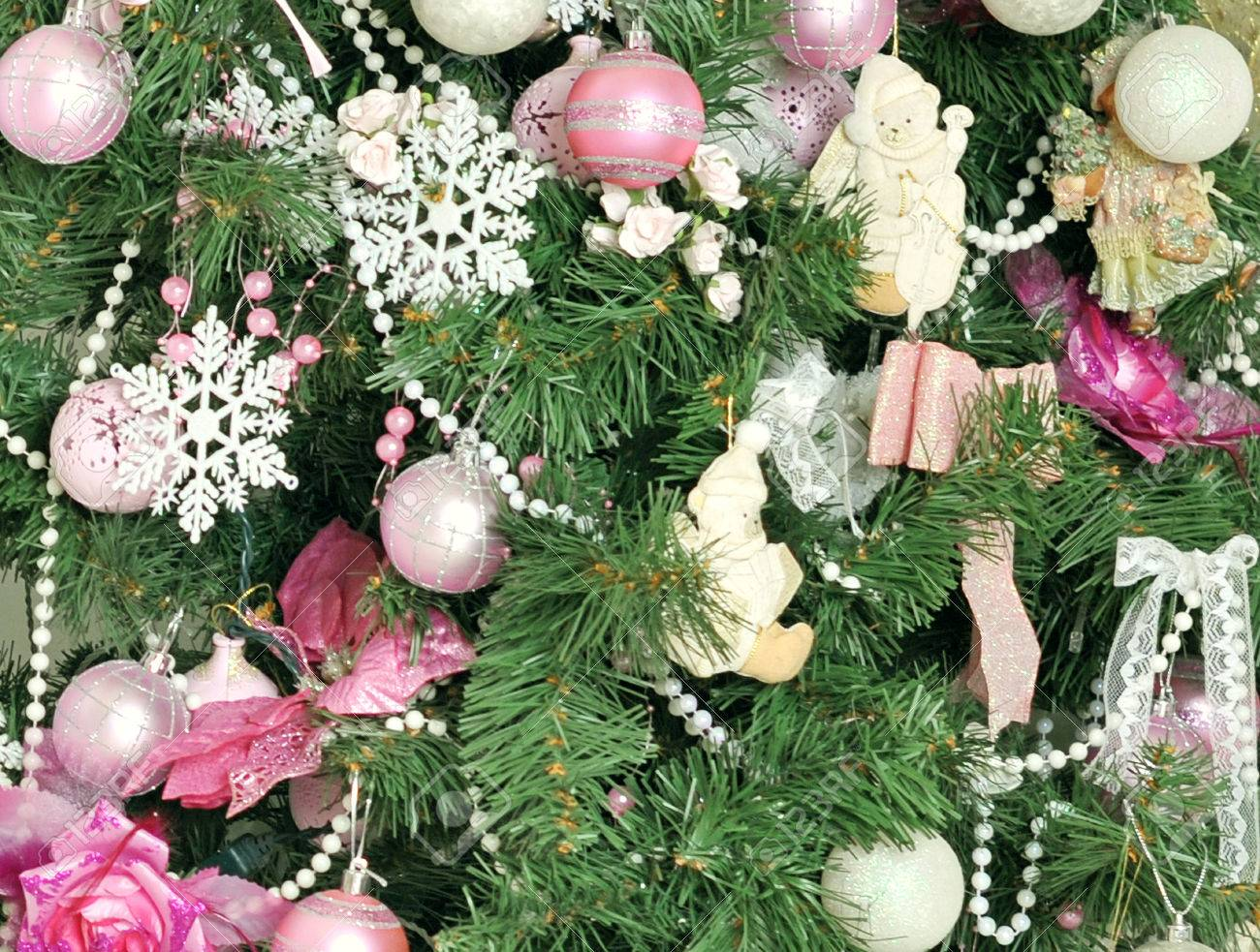 Images of Pink And Green Christmas Tree Decorations - Home ...