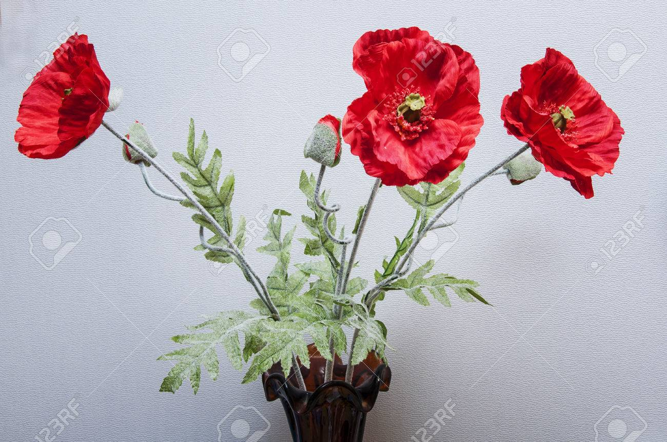 Bouquet of artificial poppies in a vase stock photo picture and bouquet of artificial poppies in a vase stock photo 36898147 mightylinksfo
