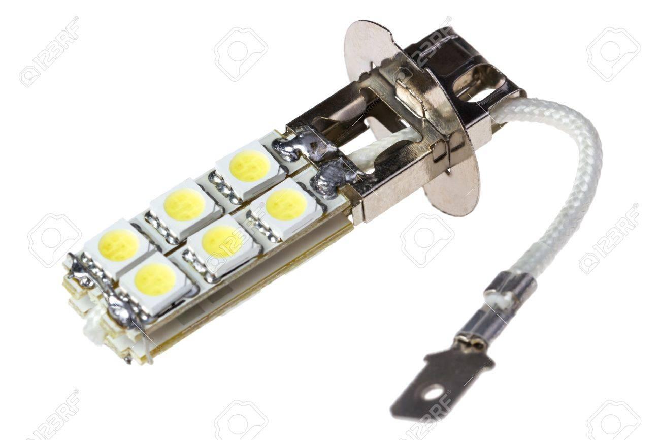 Auto Led Lampen : Led lampe für auto auf dem weißen hintergrund isoliert lizenzfreie