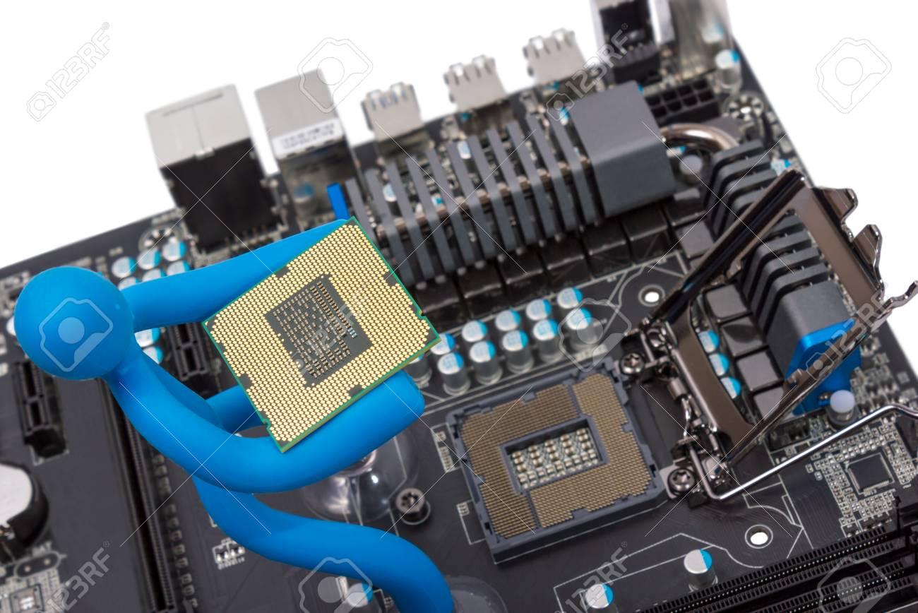 carte mere et processeur Installation Du Processeur Moderne En Socket Du CPU Sur La Carte