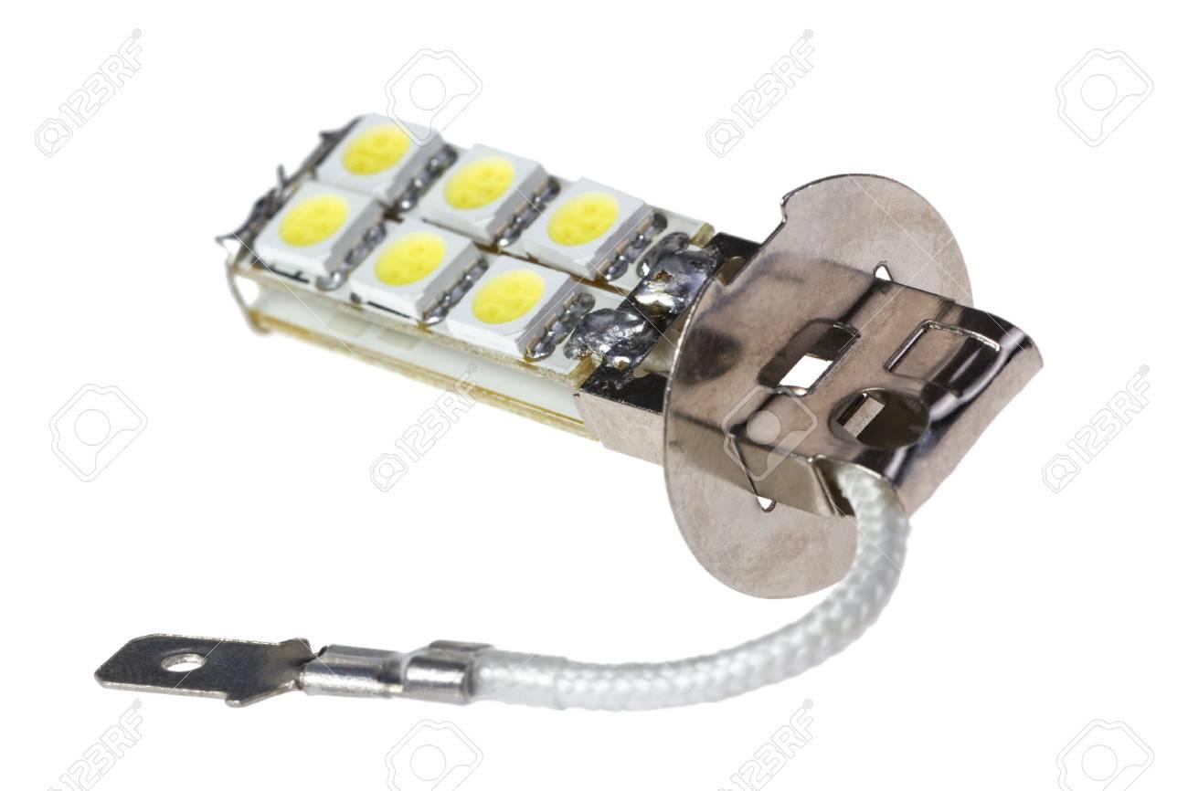 Led Lampen Auto : Led lampe für auto auf dem weißen hintergrund isoliert lizenzfreie