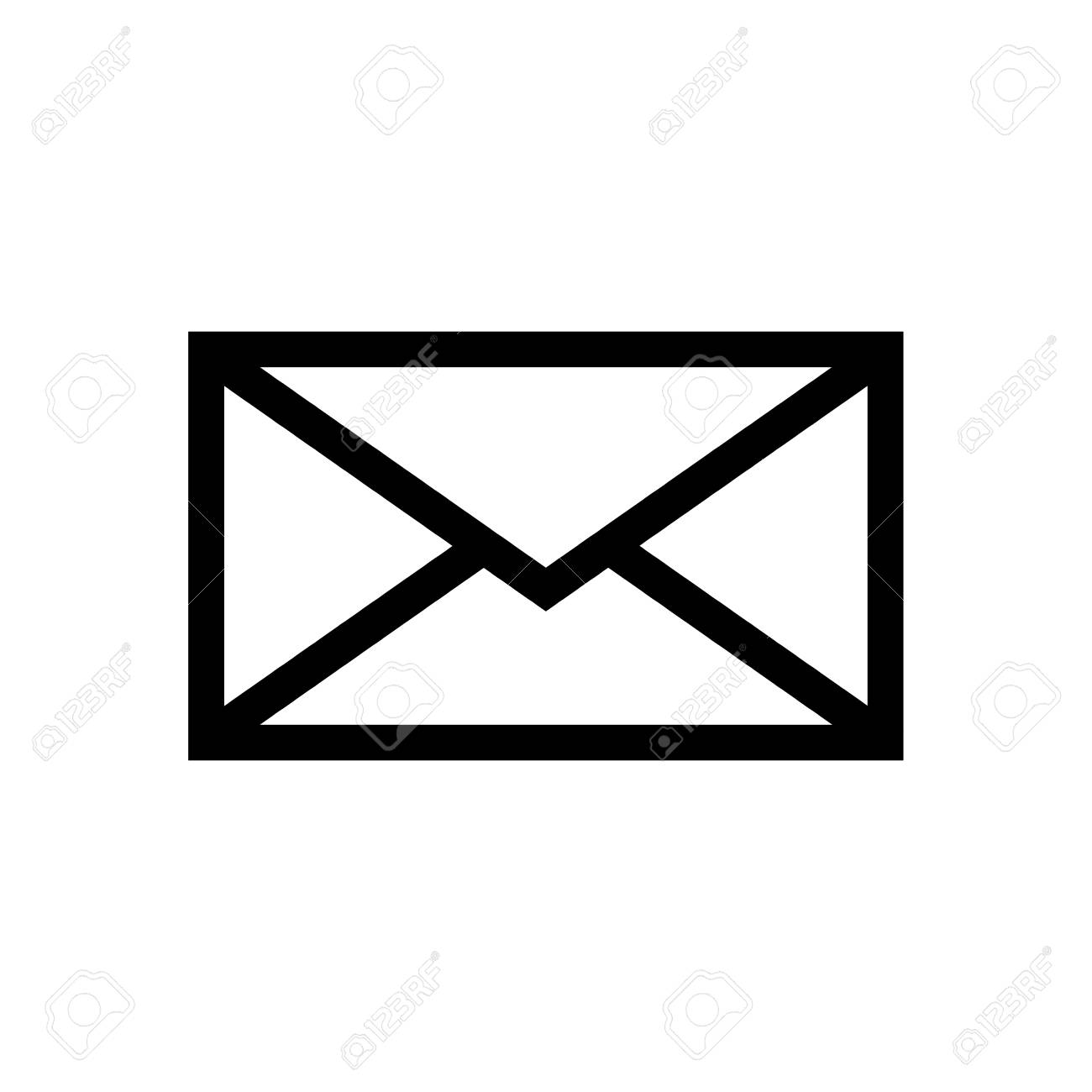 email symbol letter icon vector flat design royalty free rh 123rf com Phone Icon Vector email icon vector free