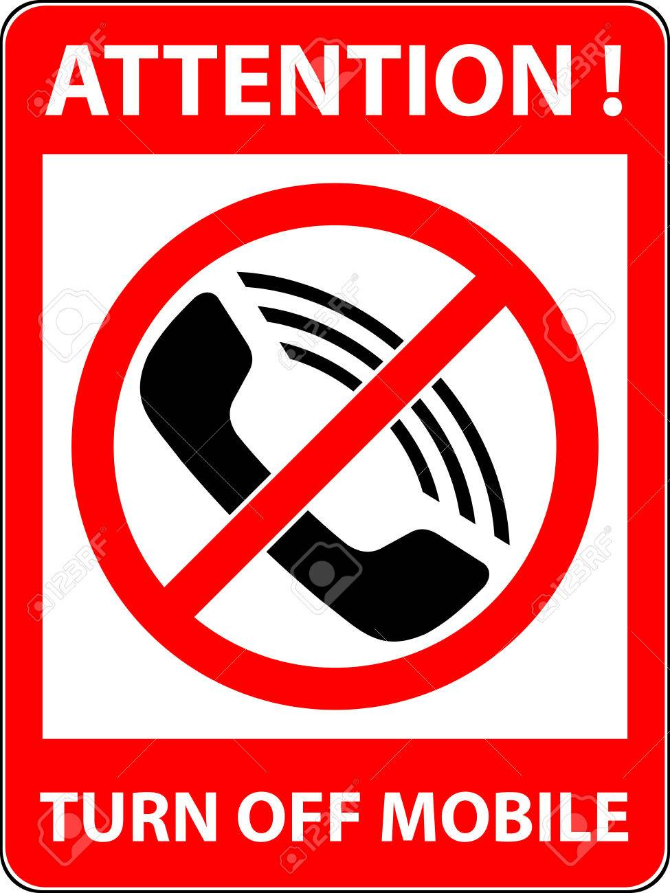 no phone telephone cellphone and smartphone prohibited symbol sign indicating the prohibition or