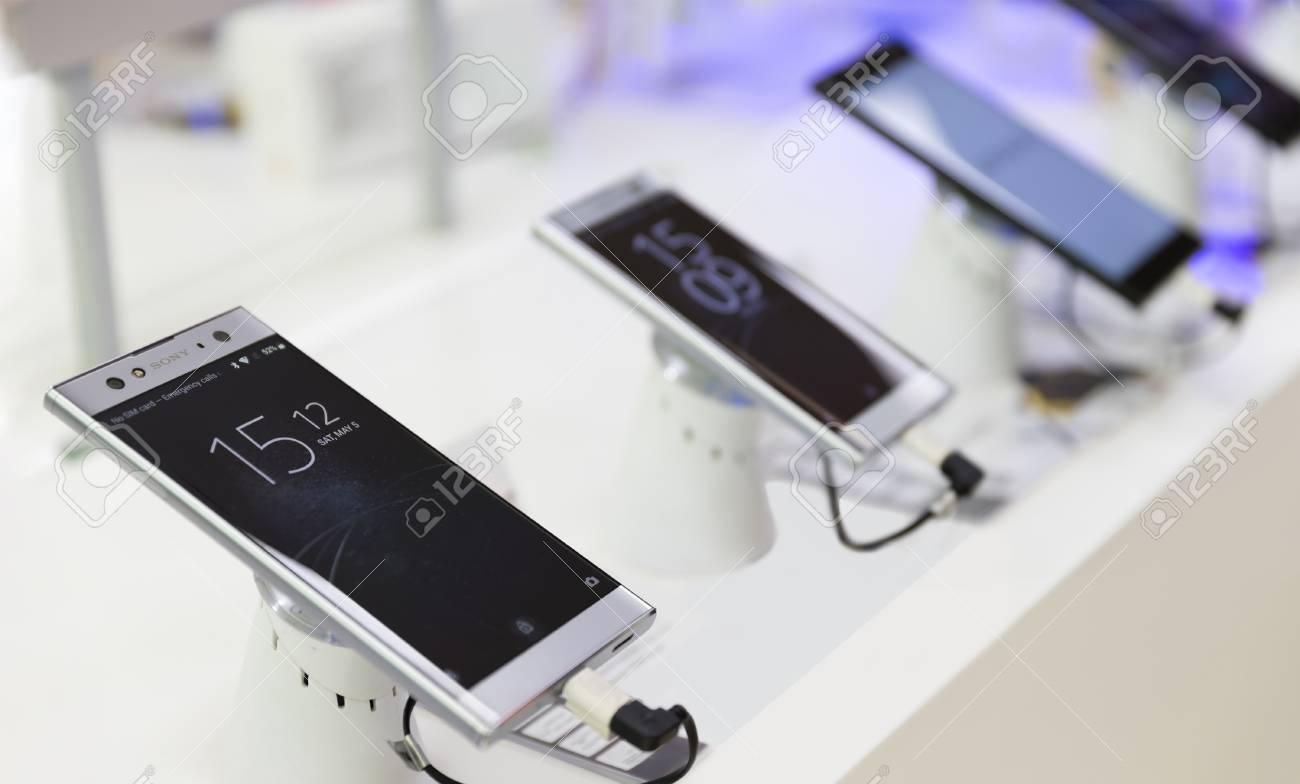 Belgrade, Serbia - May 05, 2018: New Sony Xperia XA2 Ultra, Smartphone