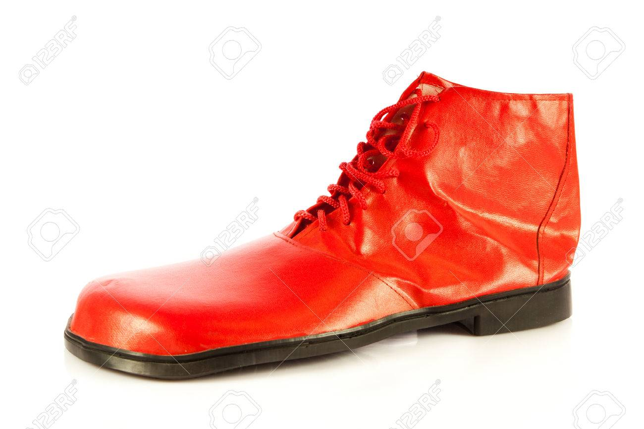 Funny Shoes Isolated On White Stock Photo Picture And Royalty Free