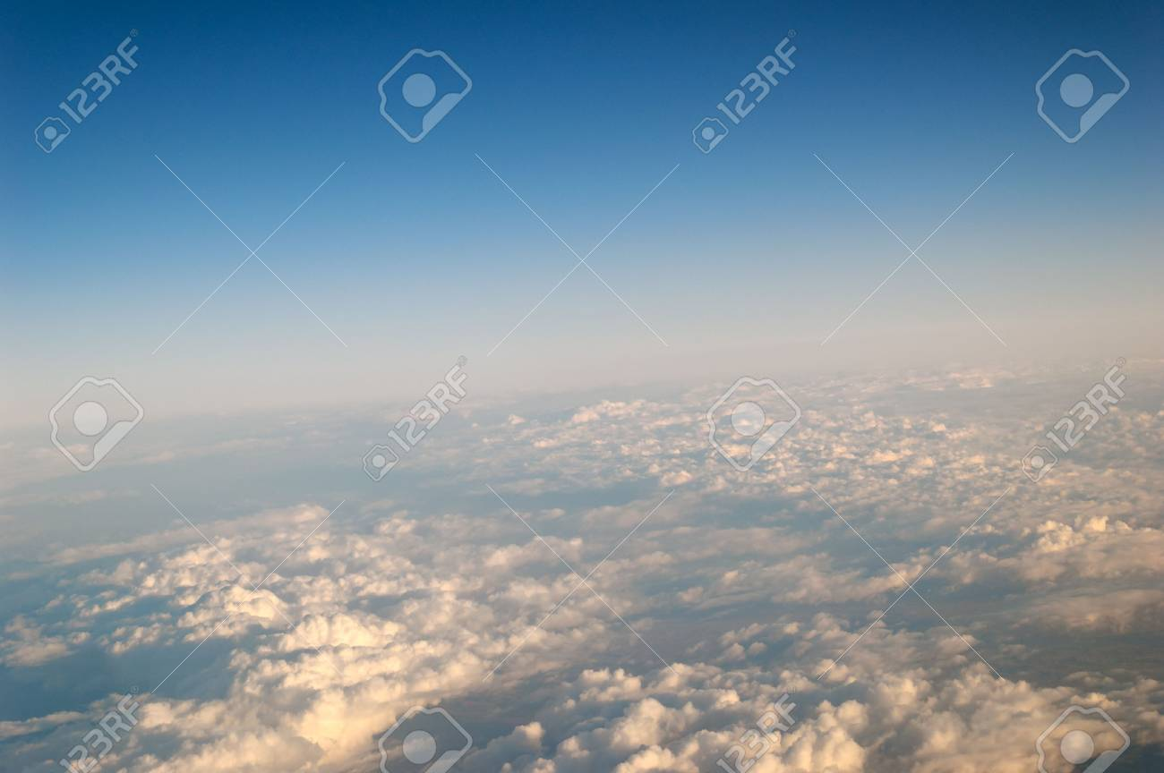 Evening cloudscape, seen from high above. Stock Photo - 3257665
