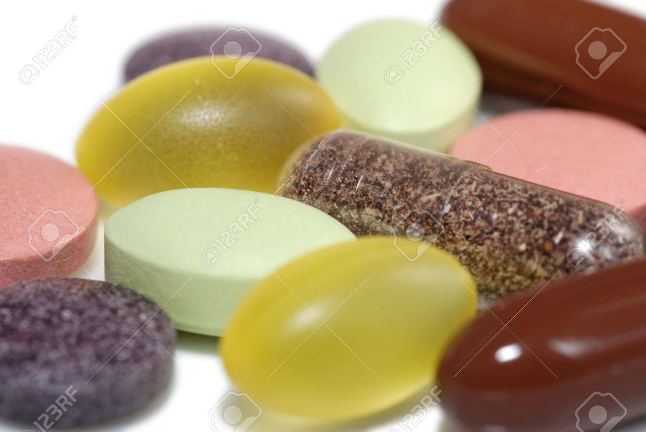 Several vitamin pills and capsules Stock Photo - 3270585