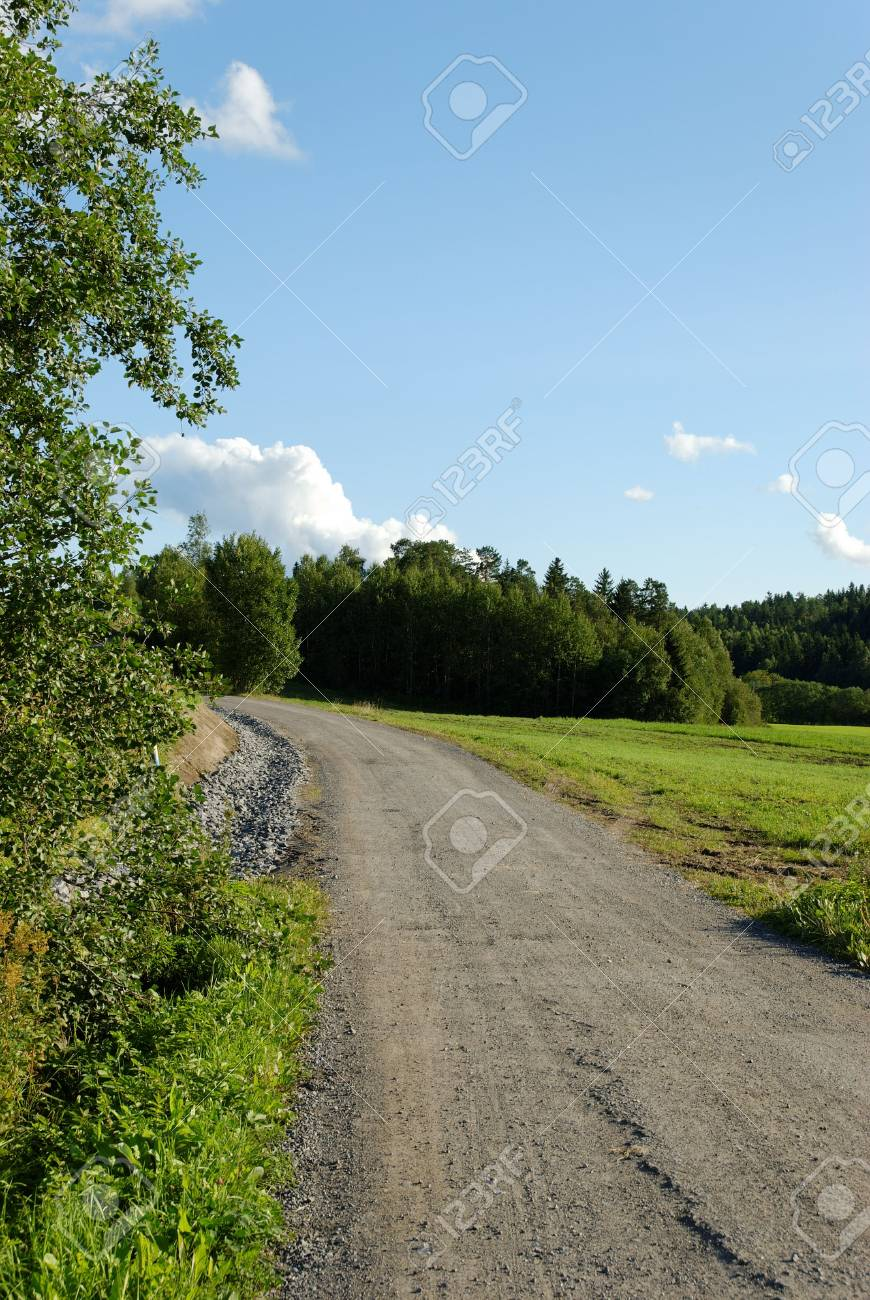 A dirt track, leading through countryside. Stock Photo - 3470235