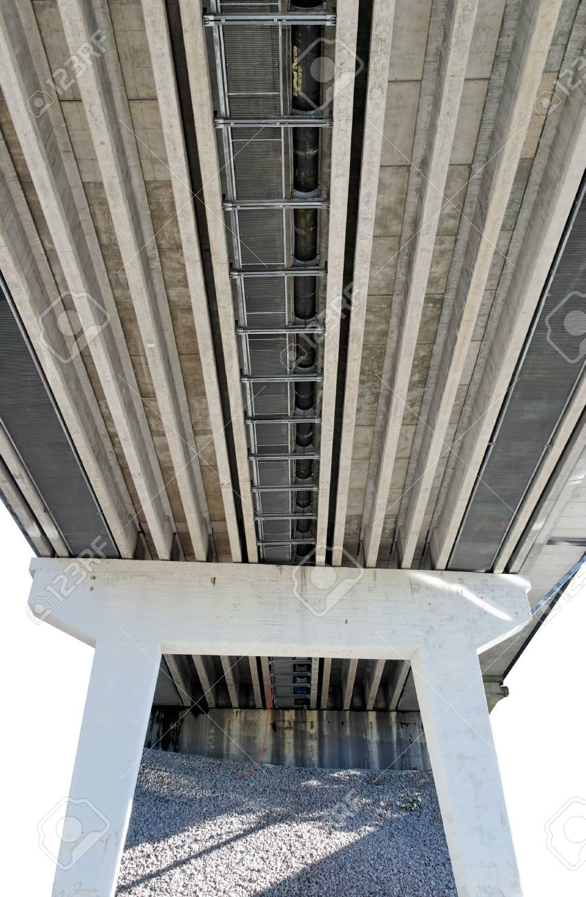 Isolated supports and underworks of a highway bridge Stock Photo - 3736865