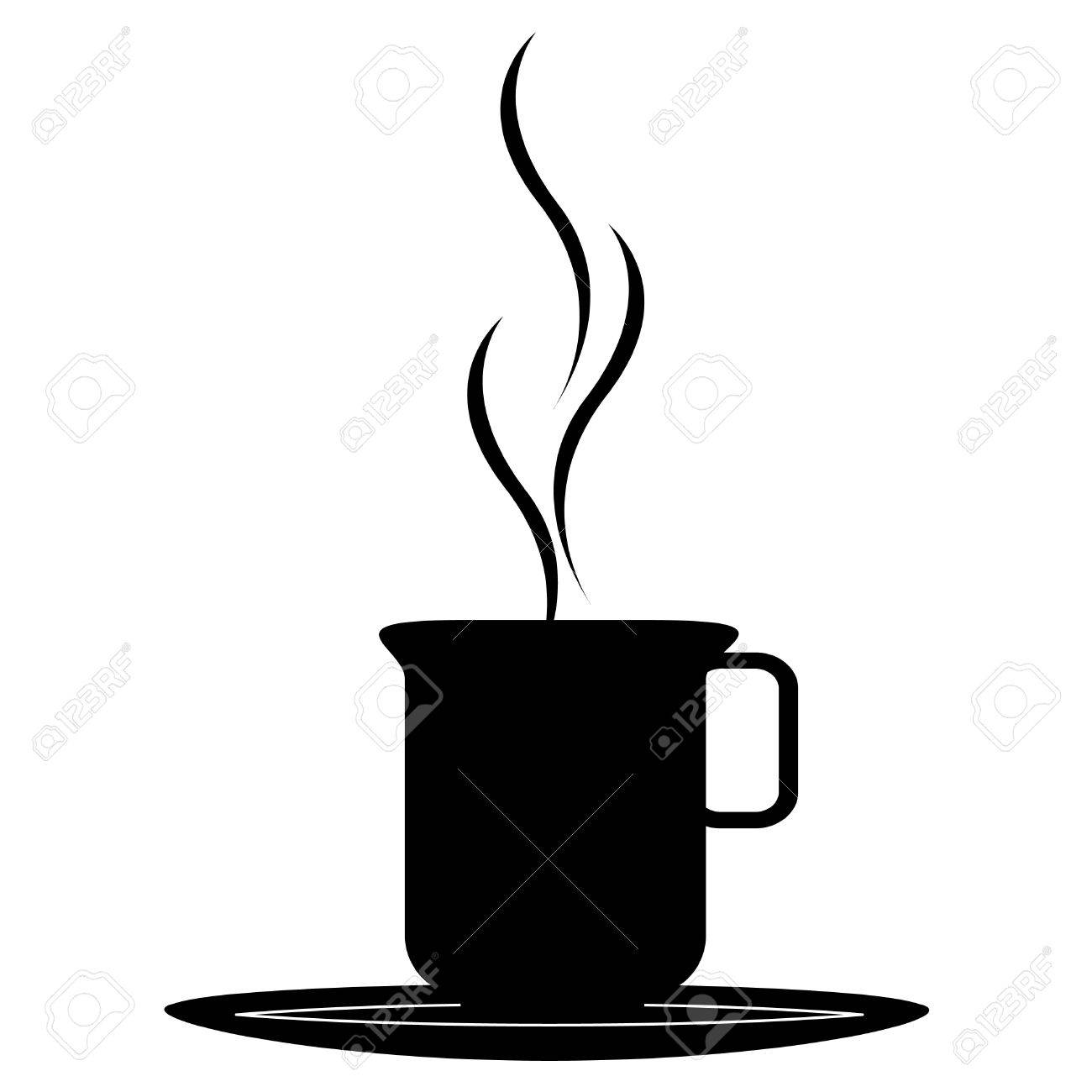 Coffee Cup Silhouette Stock Vector - 6382157