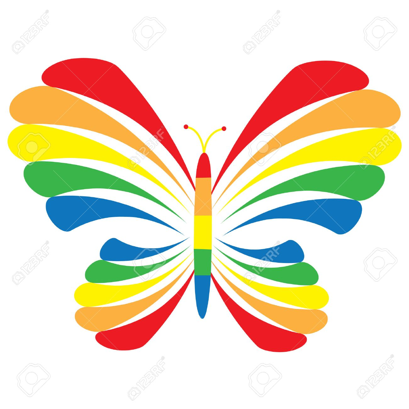 Rainbow Butterfly Royalty Free Cliparts Vectors And Stock Illustration Image 6478812