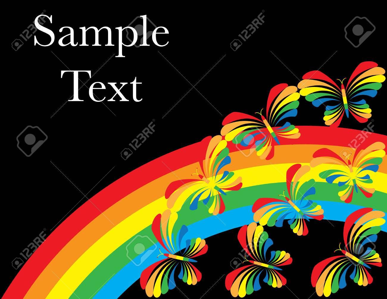 Butterfly Rainbow Stock Vector - 6524731