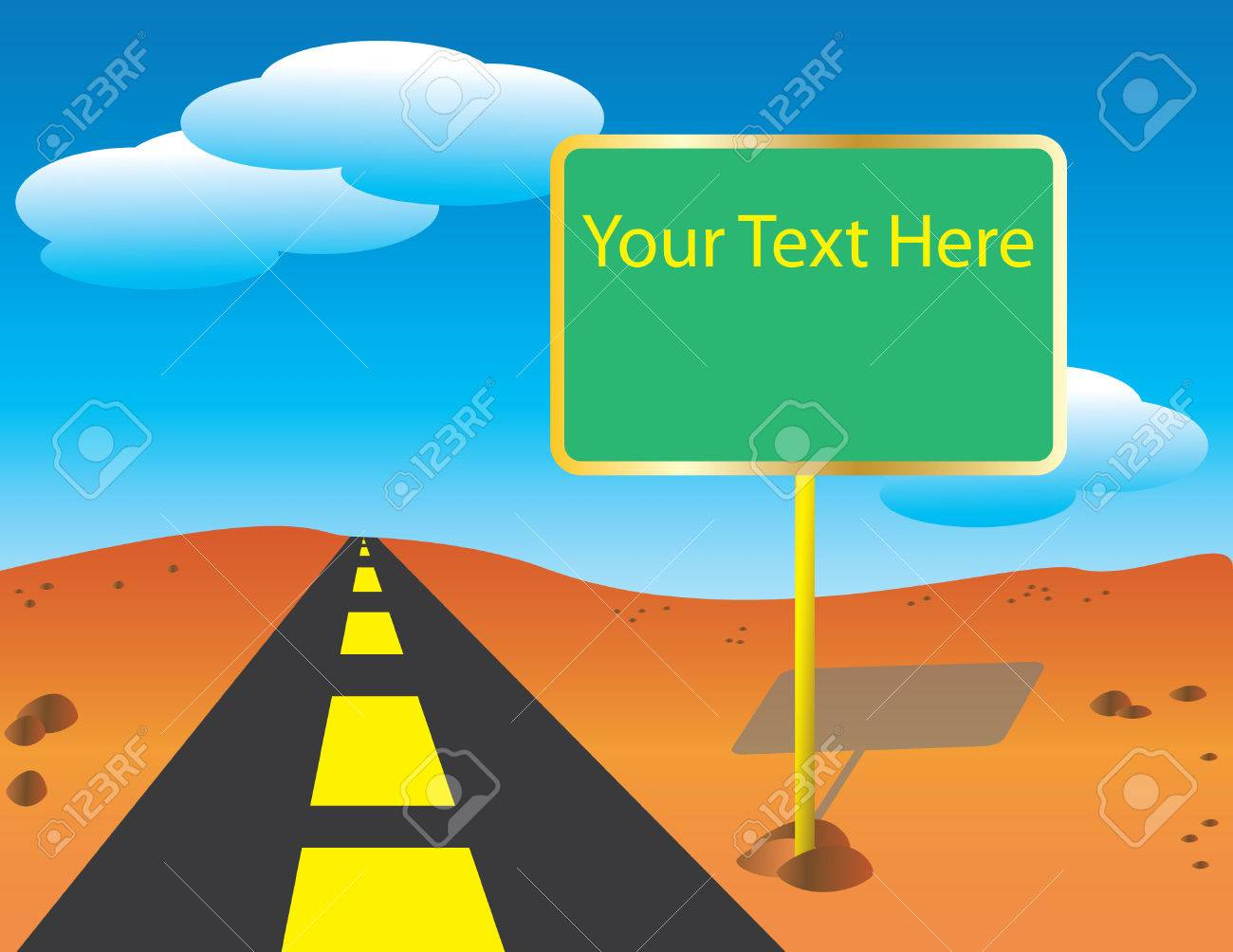 Road Sign Stock Vector - 6694430