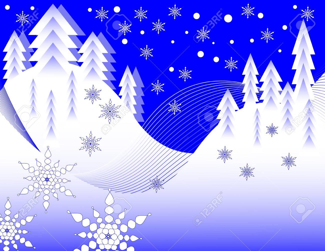 Snow Scene Stock Vector - 11663918