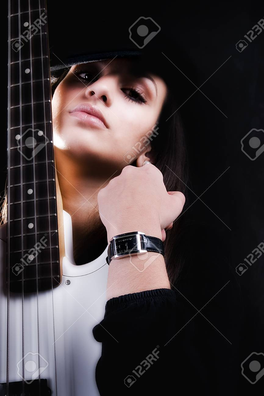 Girl with guitar Stock Photo - 4258533