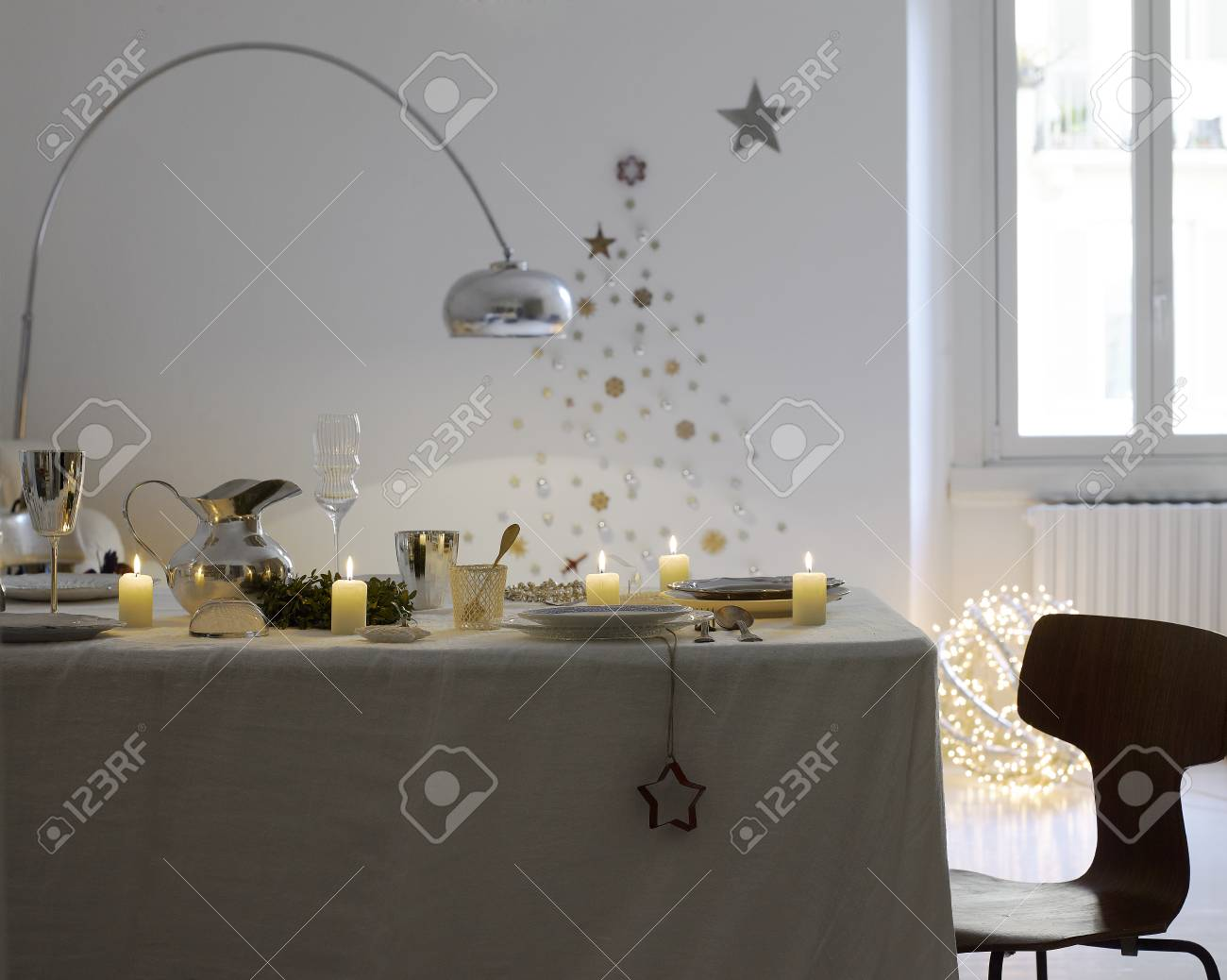 Dining Table Set Up For Christmas Season Stock Photo Picture And Royalty Free Image Image 111414145
