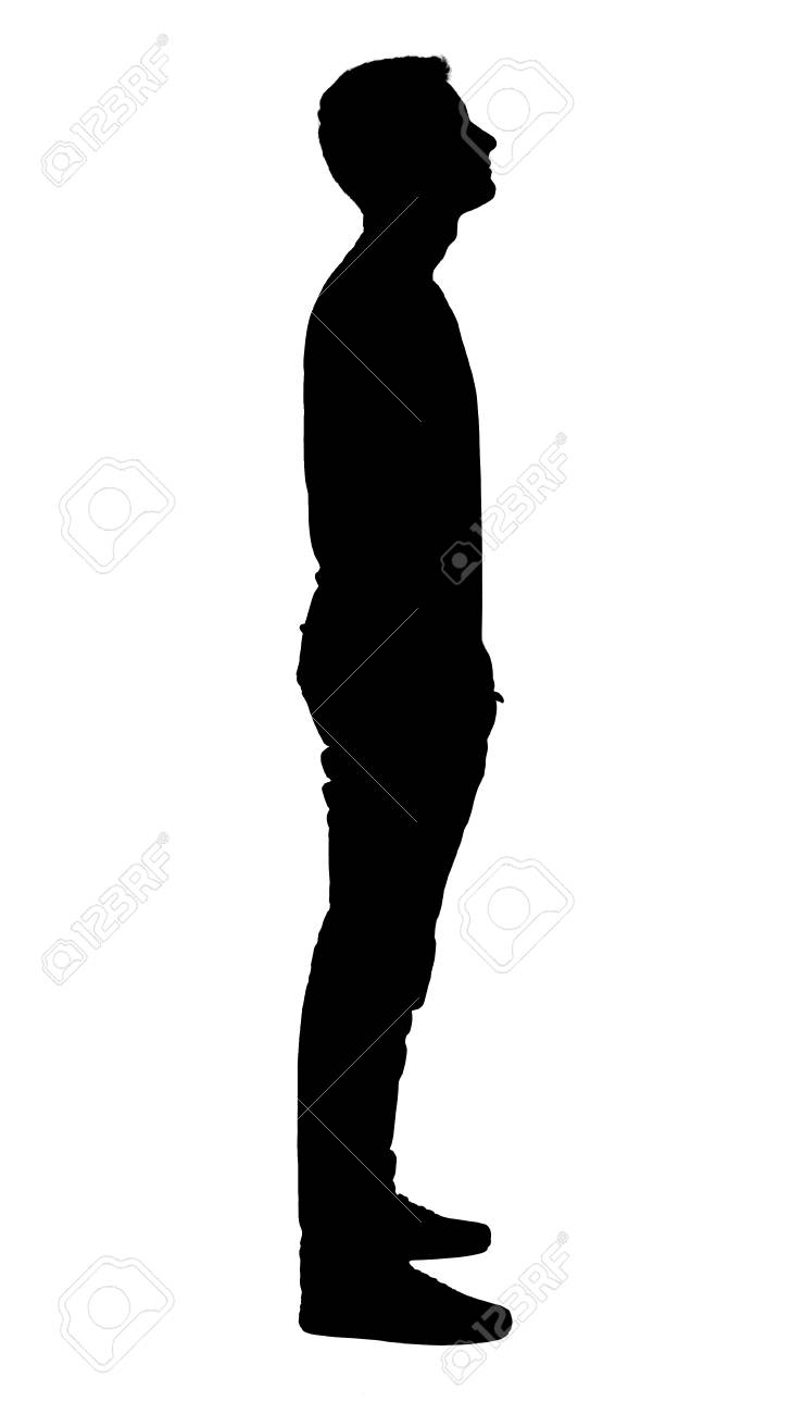 Portrait Of Standing Boy S Silhouette Stock Photo Picture And Royalty Free Image Image 111657348 Boy wall silhouettes (children's decor) boy standing. portrait of standing boy s silhouette