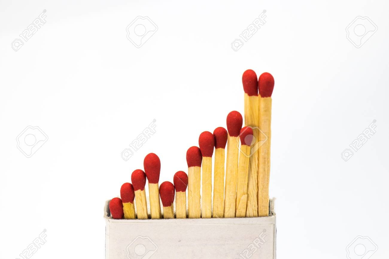 Match in a box in white background Stock Photo - 29344762