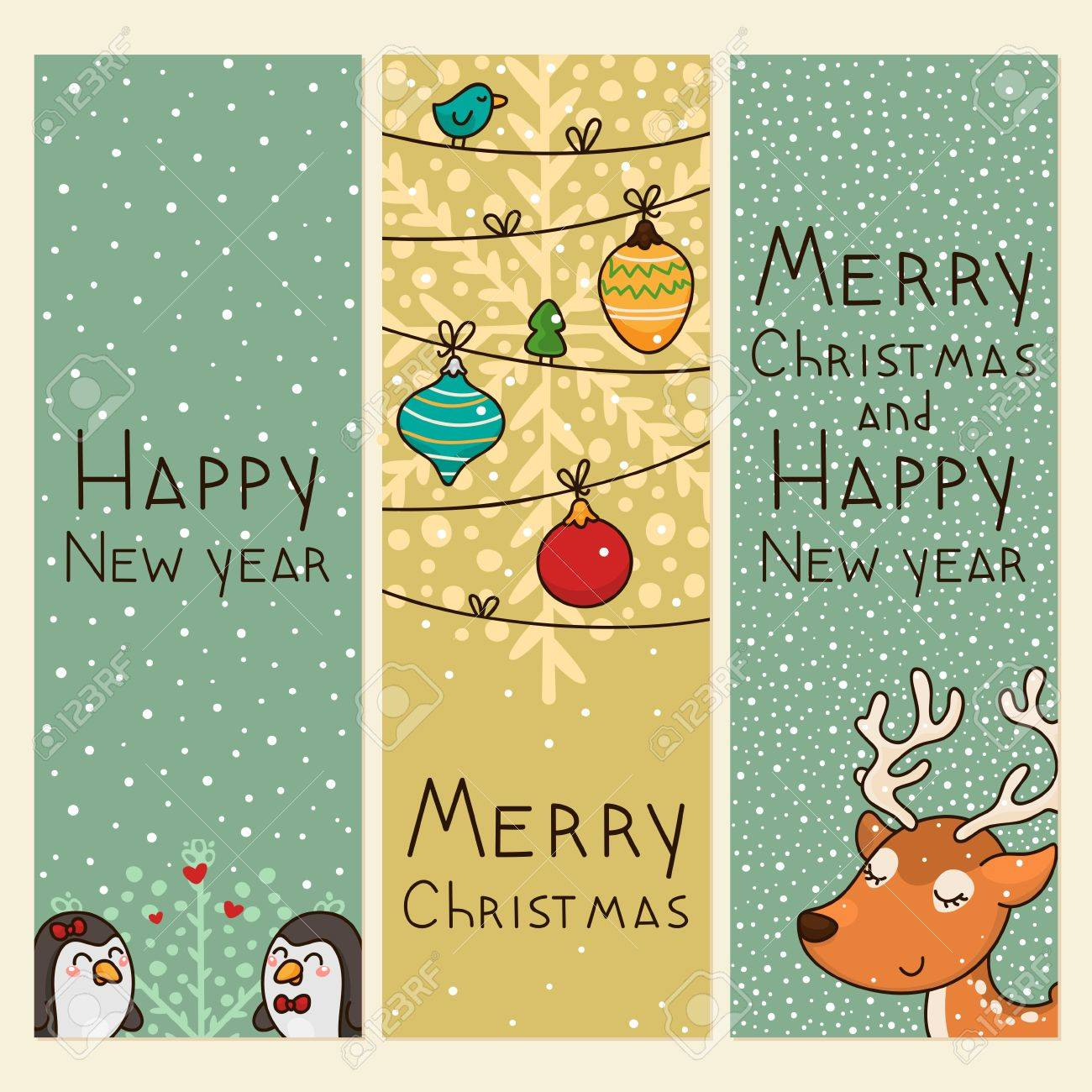christmas and new years vertical banners stock vector 16892678