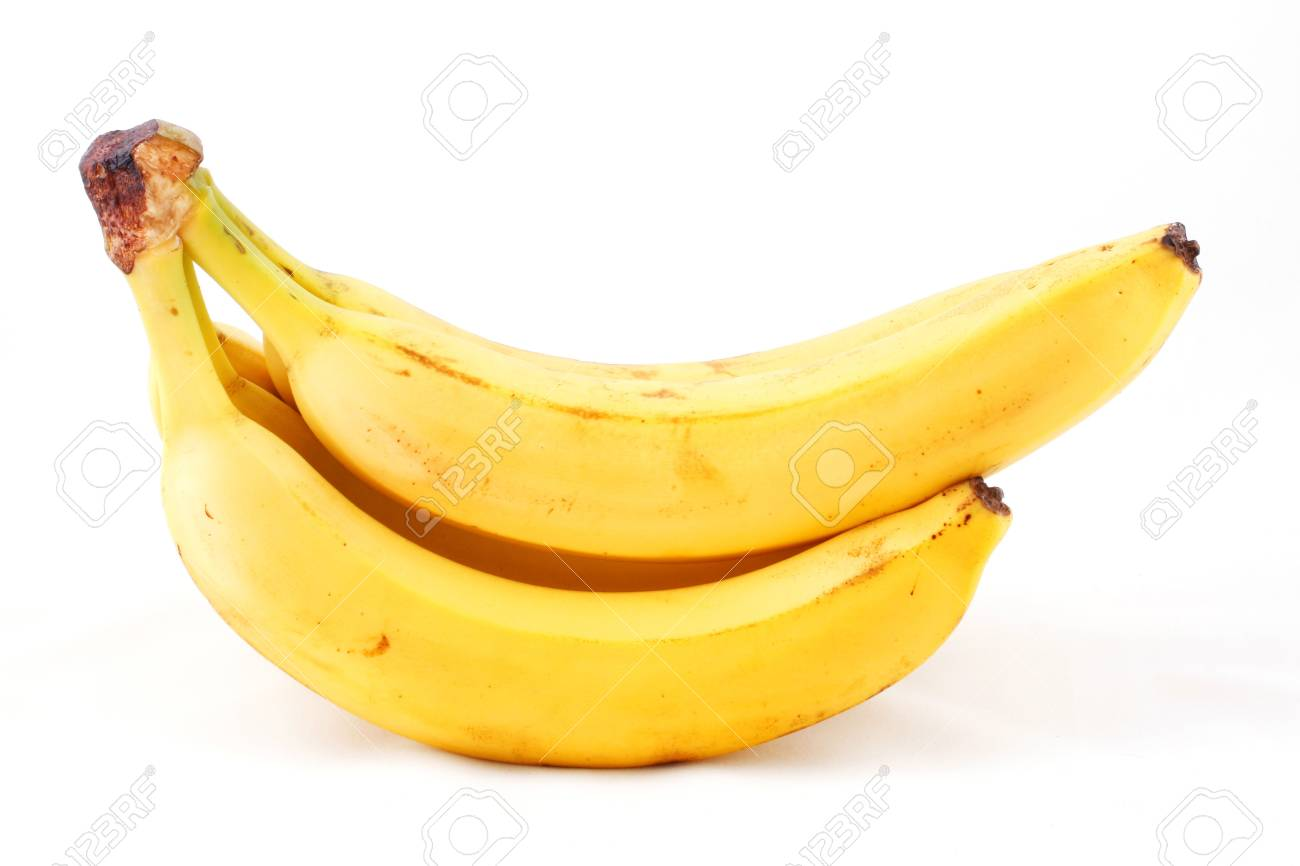 Bunch of bananas composition isolated on white background Stock Photo - 7995963